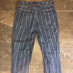 Striped Mom Jeans